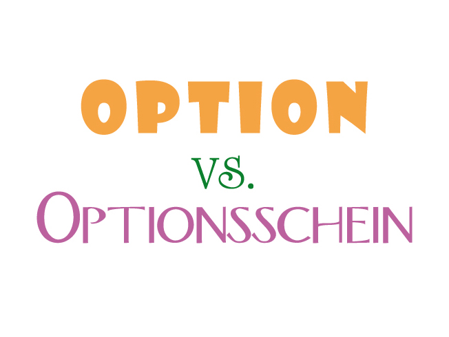 Option Optionsschein
